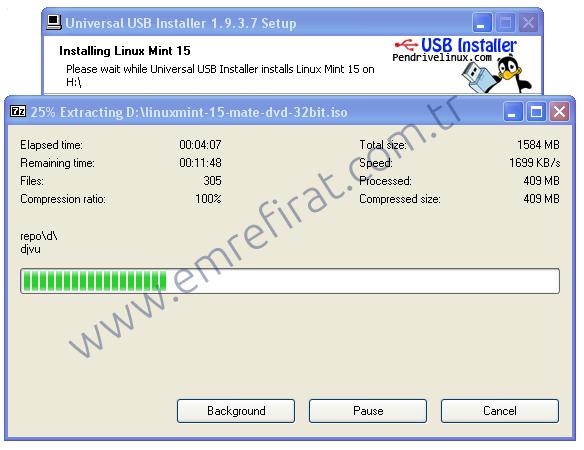Universal USB Installer Kurulumu 1. Aşama