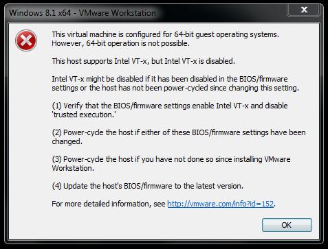 """""""This host supports Intel VT-x, but Intel VT-x is disabled"""" Hatası ve Çözümü"""