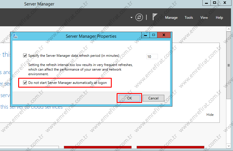 Disable Server Manager